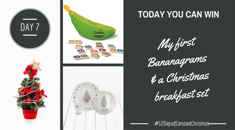 Day 7 – Win Bananagrams and a Christmas set #12DaysofConstantChristmas