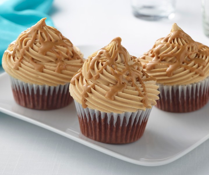 #recipe Fluffy chocolate peanut butter cupcakes