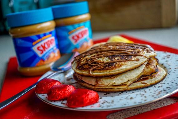 SKIPPY Vegan Peanut Butter pancakes