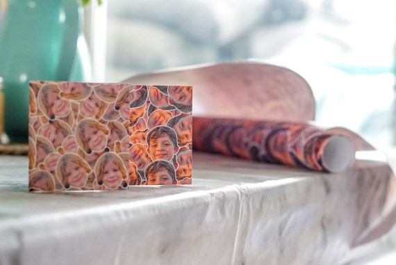 Printster in your face wrapping paper