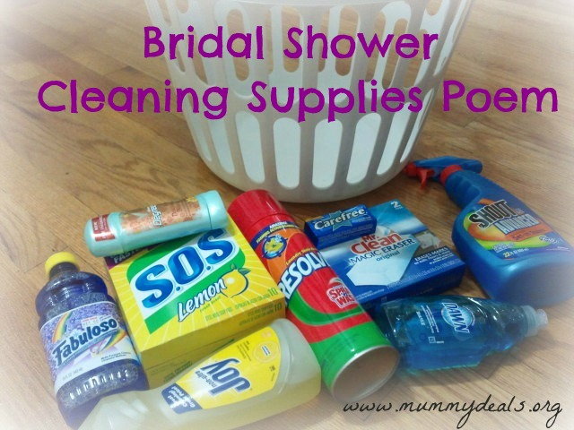 Bridal Shower Poem Gift Ideas