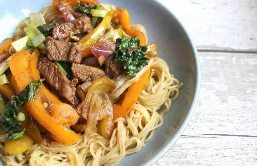 Sticky Hoisin Beef Stir Fry Noodles Recipe