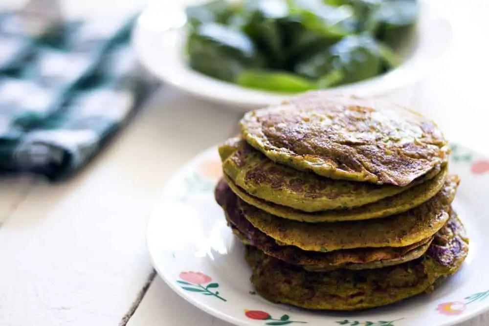 Sweet Potato Spinach Ricotta Pancakes Recipe