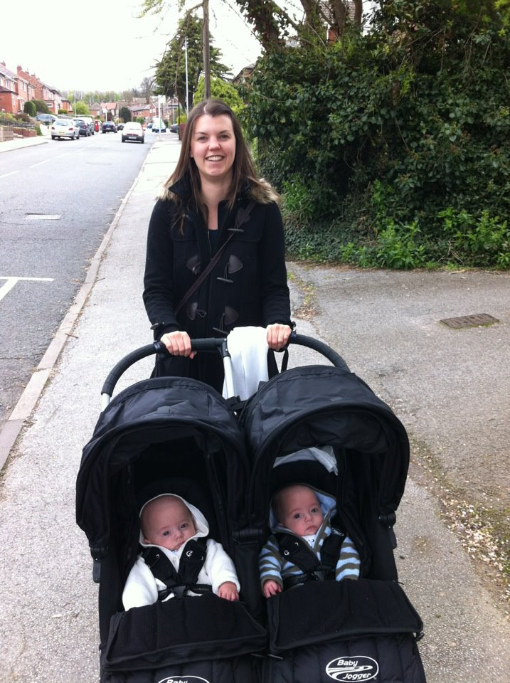 Out and about with twins