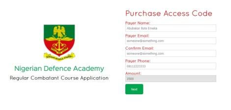 NDA admission Process