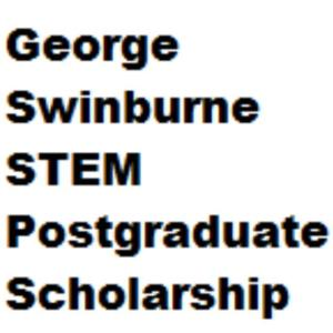 My logo: George Swinburne STEM Postgraduate Scholarship