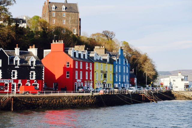May Day Weekend  on the Isle of Mull Tobermory West Coast Scotland