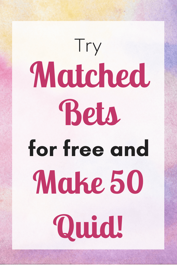 Earn extra money from home by matched betting. If you're not sure, read this blog post with step by step instructions on how matched betting works, then try a free month with Matched Bets to see how you do! The best thing is, your winnings don't count as earnings so they're tax-free!