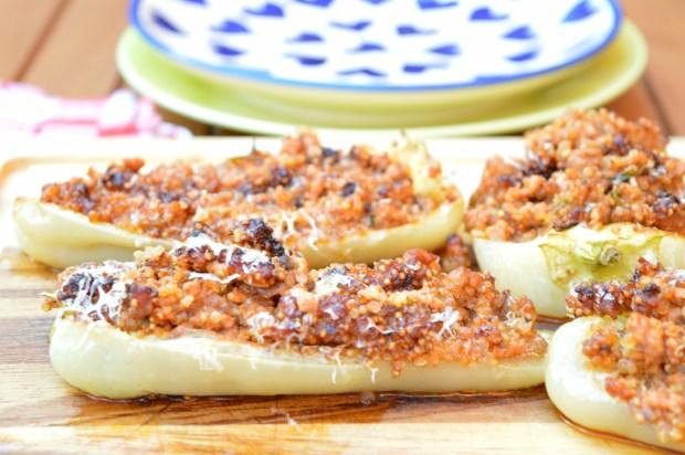 Quinoa & Beef Stuffed Peppers