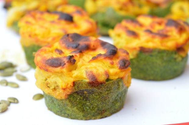 Spinach & Pumpkin Cups
