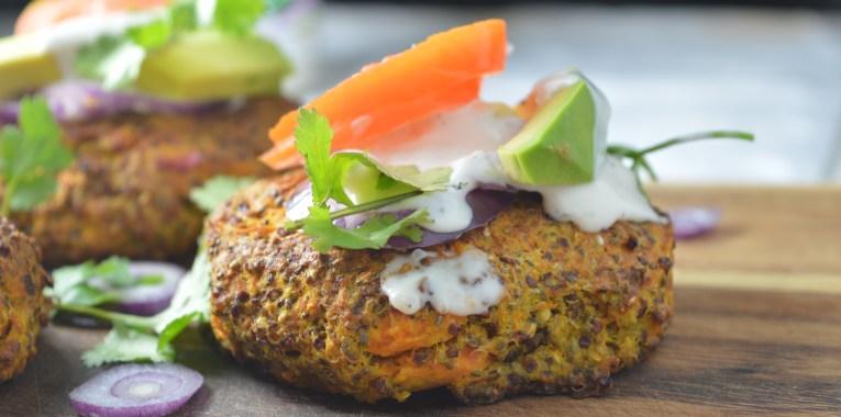 Squash, Quinoa & Chia Seed Burger