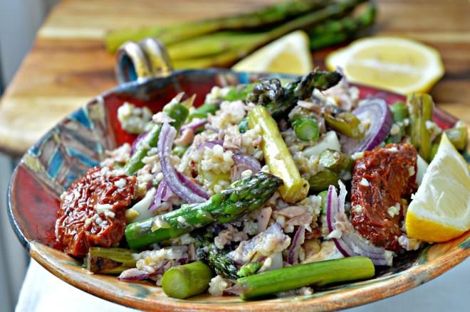 Grilled Asparagus Bulgur Salad