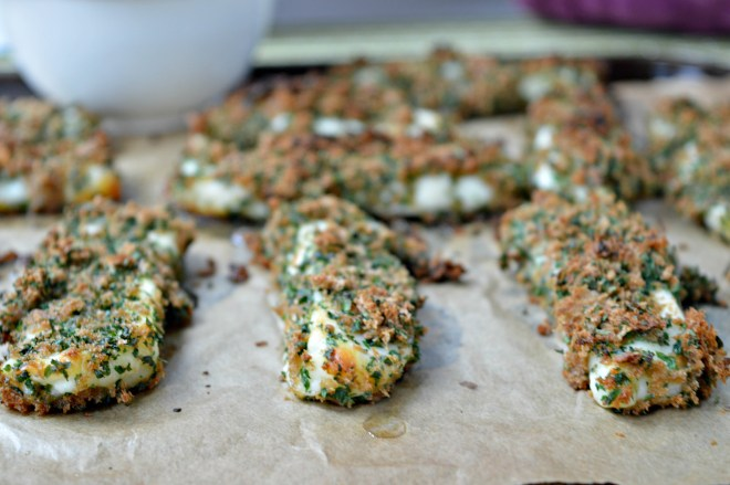 Oven Baked Halloumi Chips with Herbs