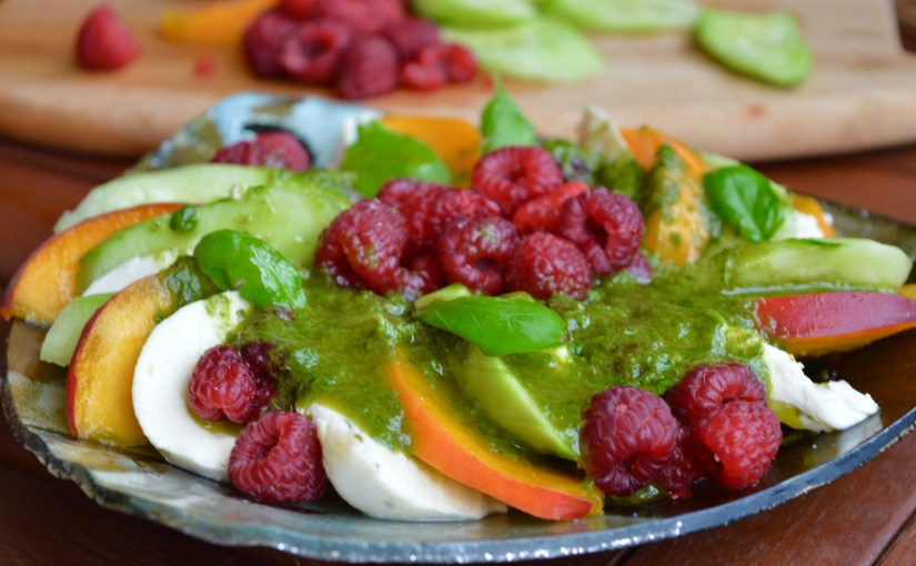 MM: Raspberry & Peach Salad