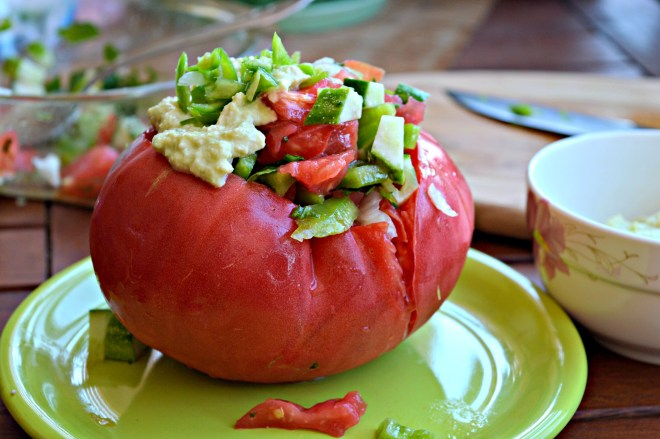 Raw Vegan Stuffed Tomatoes