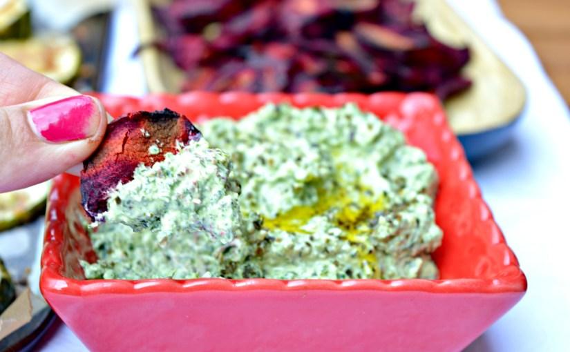 Roasted Kale & Feta Cheese Dip