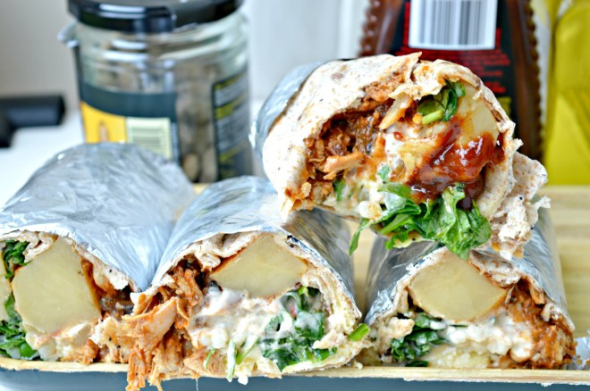 Pulled Pork Breakfast Wraps