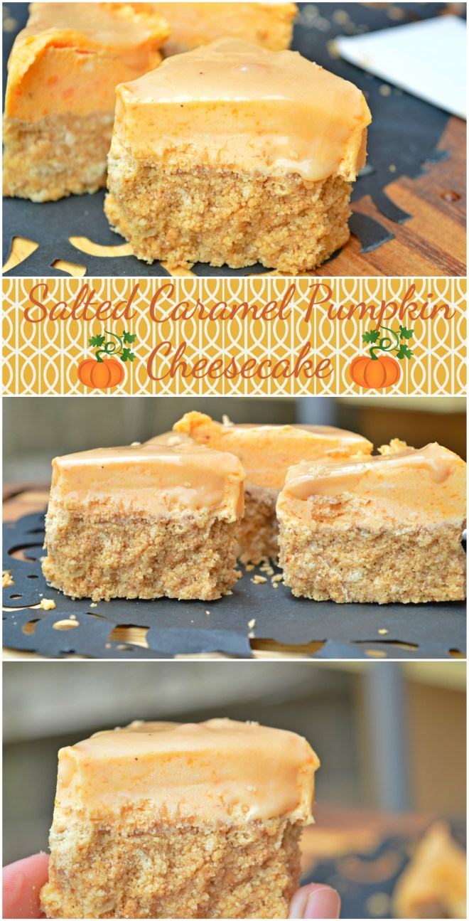 Salted Caramel Pumpkin Cheesecake