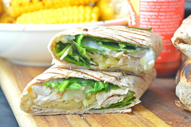 Grilled Cheese & Chicken Wraps