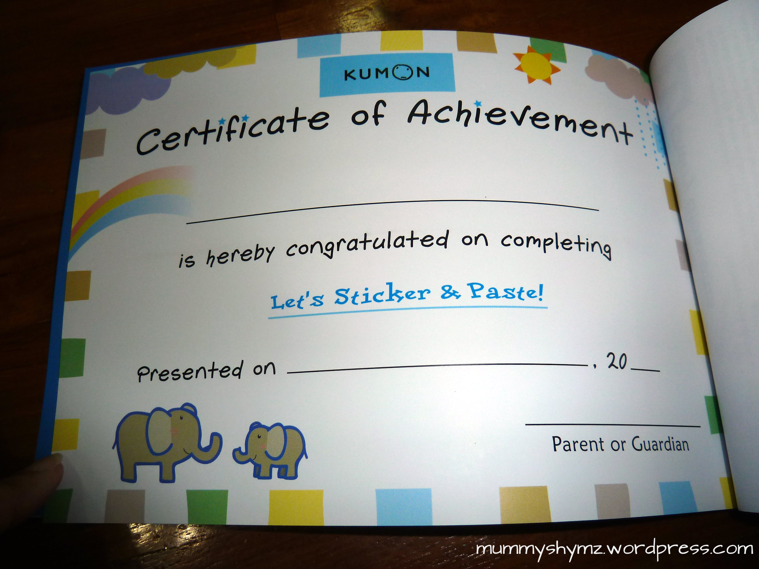 Product Review Kumon Let S Sticker And Paste