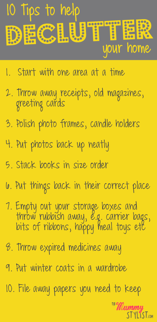 10 Tips To Help Declutter Your Home The Mummy Stylist