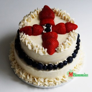 St.George's Strawberry and Blueberry Vanilla Cake