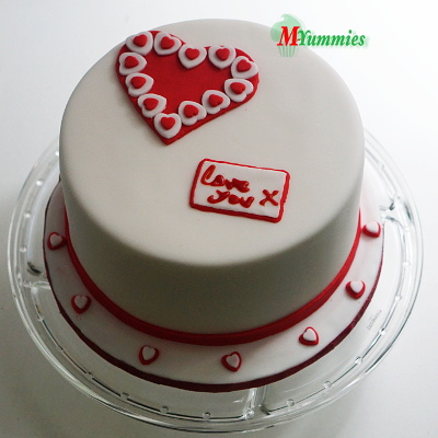Valentines Day Red Cake