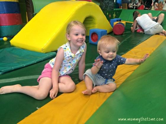 Joshua and Emily at crealy soft play
