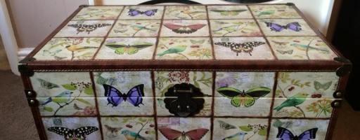*Prize Draw* Wooden Storage Trunk – Butterfly & Bird Design