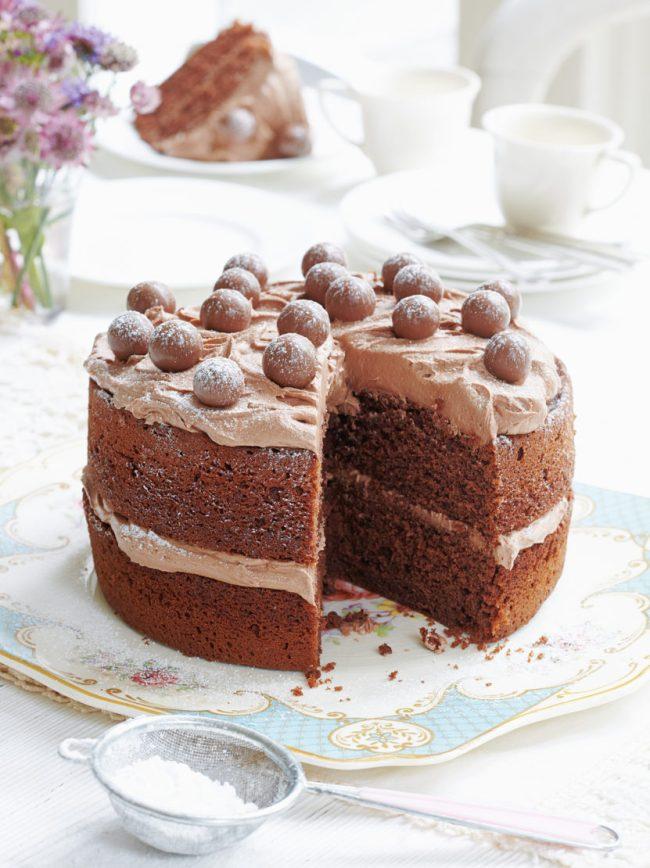 Mary Berry - malted chocolate cake Photography by Georgia Glynn Smith