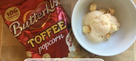 Butterkist toffee popcorn ice cream