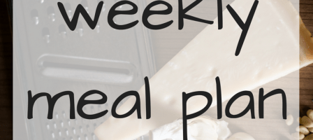 Our weekly meal plan – 11/09/17