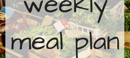 Our weekly meal plan – 11/12/17