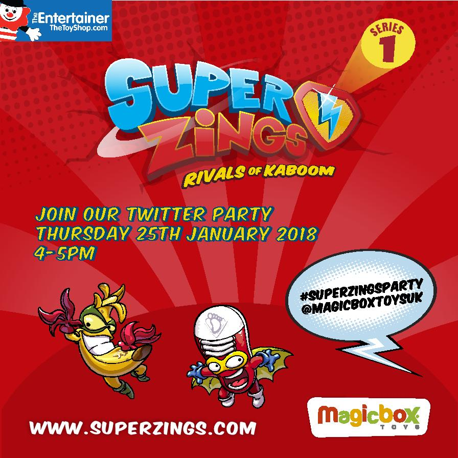SuperZings Party poster