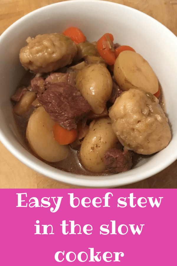 Easy beef strew in the slow cooker