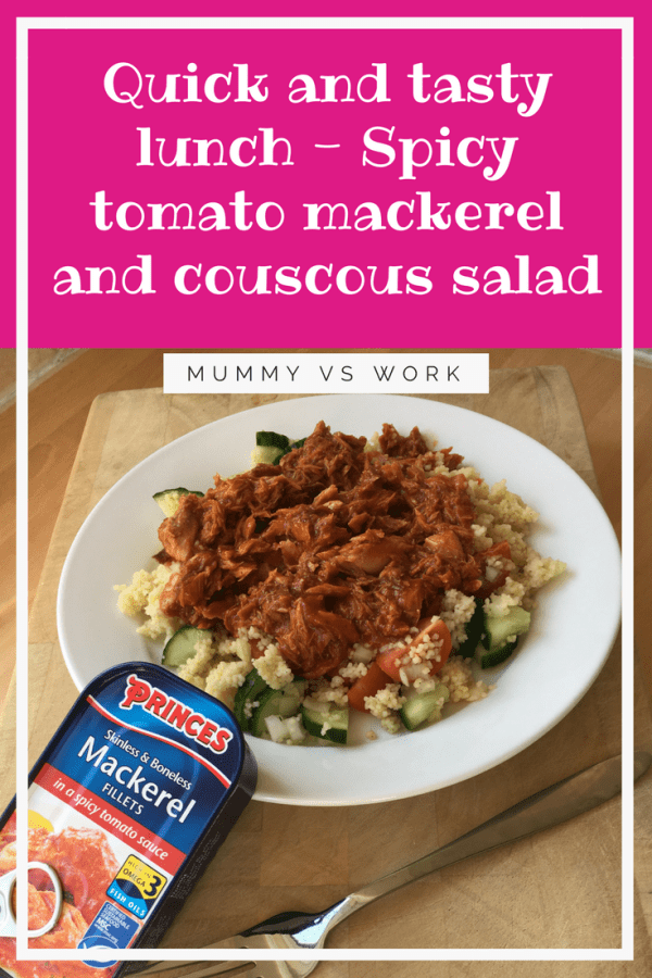 Quick and tasty lunch - Spicy tomato mackerel and couscous salad