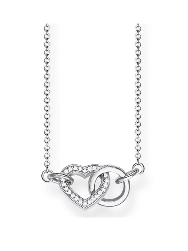 Thomas Sabo Sterling Silver Cubic Zirconia Together Forever Heart Link Necklace