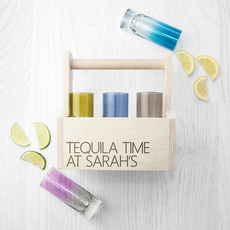 Win LSA Coloured Shot Glass Trug from The Personalised Gift Shop