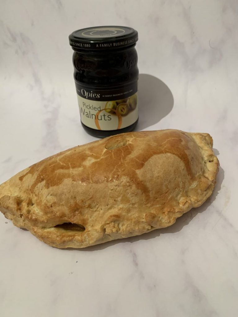 Steak and pickled walnut pasties