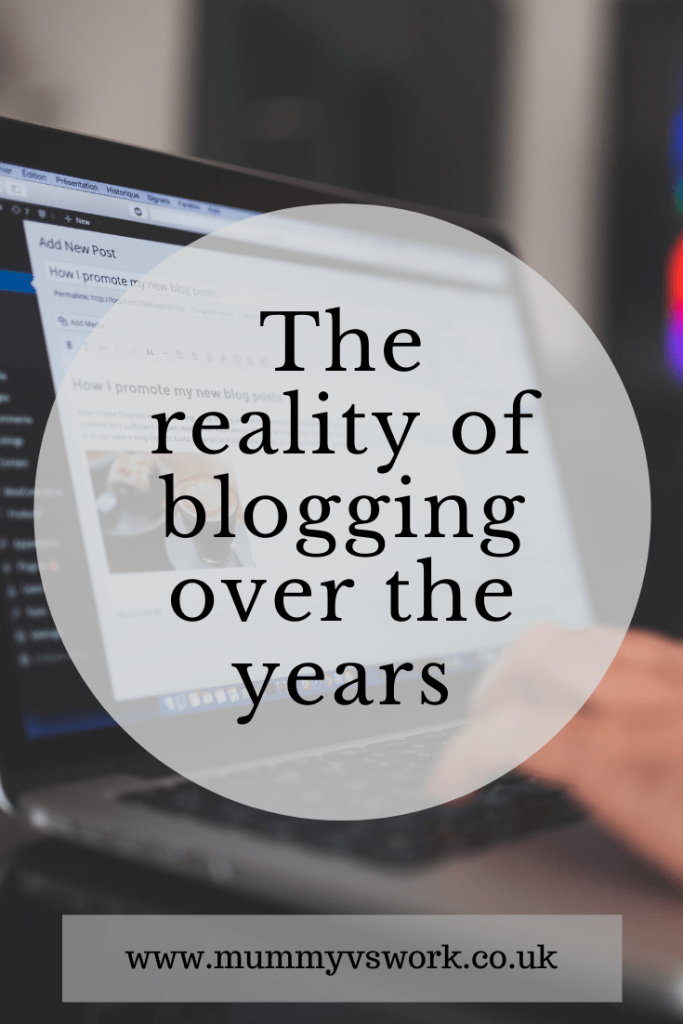 The reality of blogging over the years