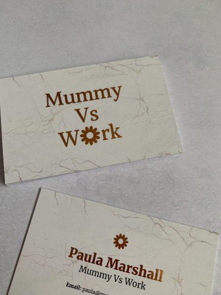 Metallic foil business cards from Aura Print
