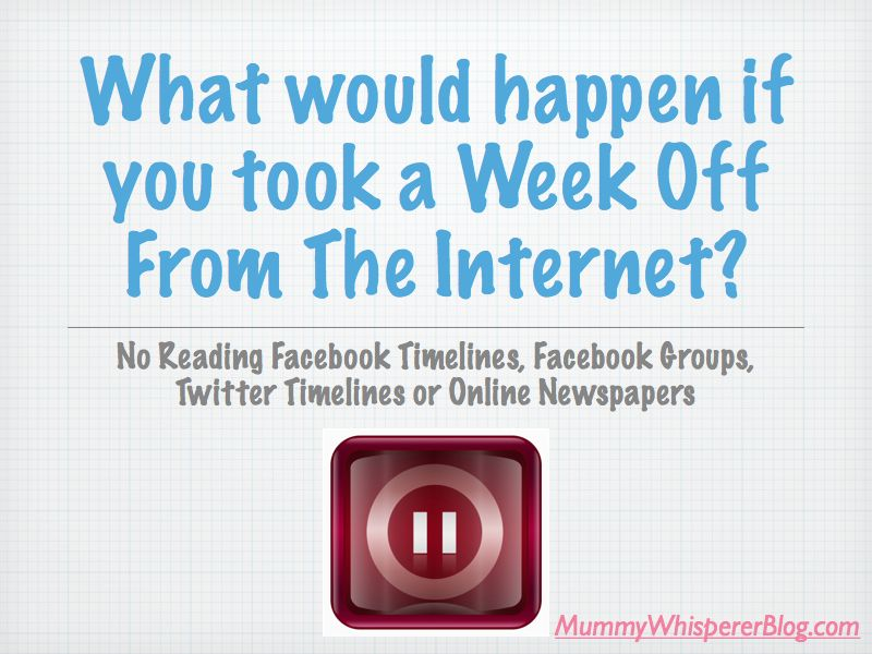 What Happens In A Week Off Reading, Facebook and Twitter?