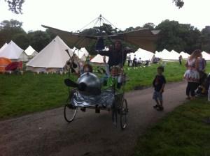 Flying Bike At Festival