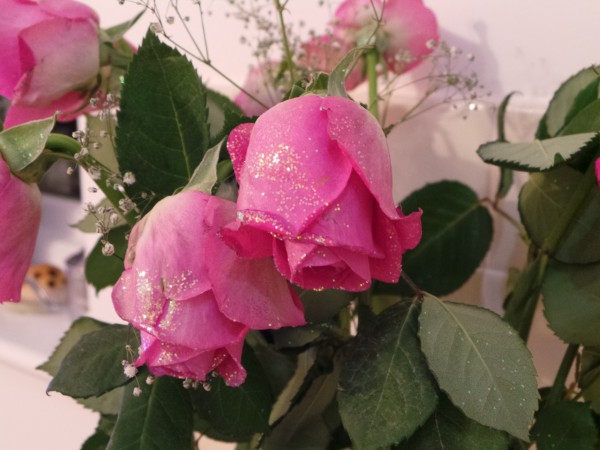 Pink Sparkly Rose