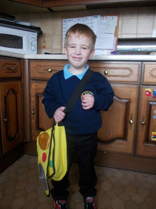 Bruiser goes to school