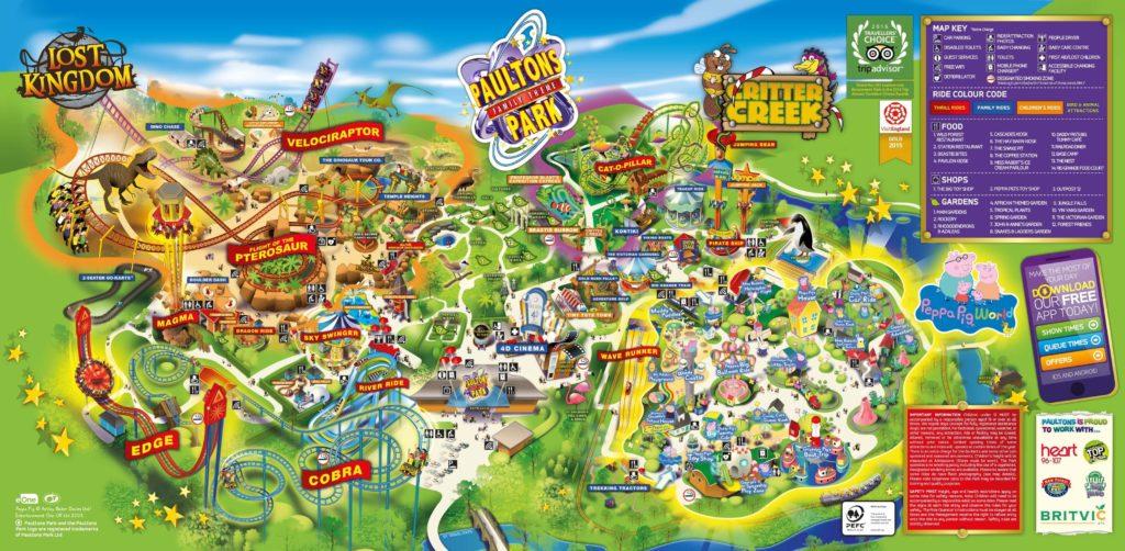 Paultons Park Map