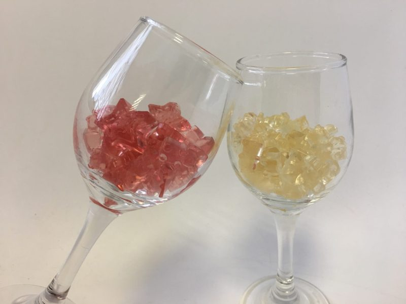 white and rose gummies