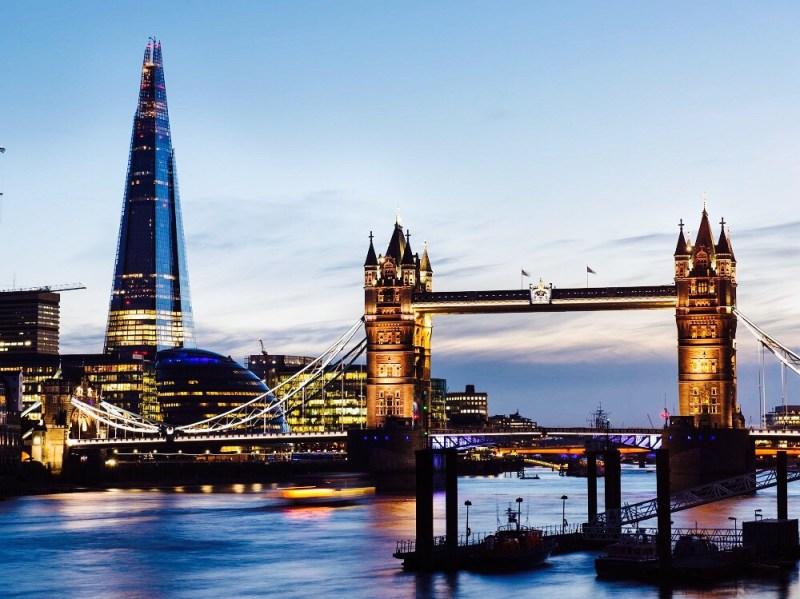 London Shard and Tower Bridge