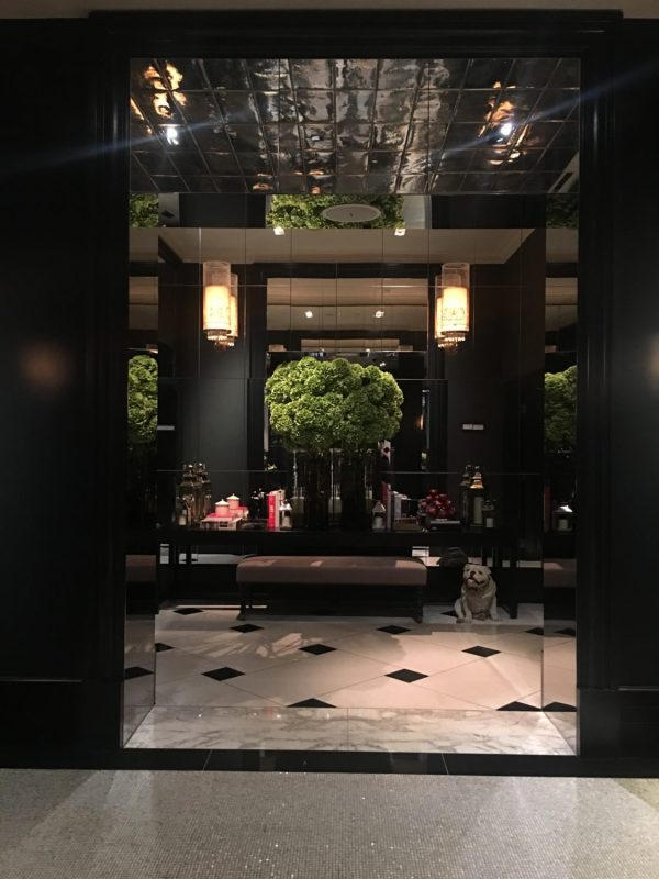 Even the entrance to the Mirror Room doesn't fall from expectations