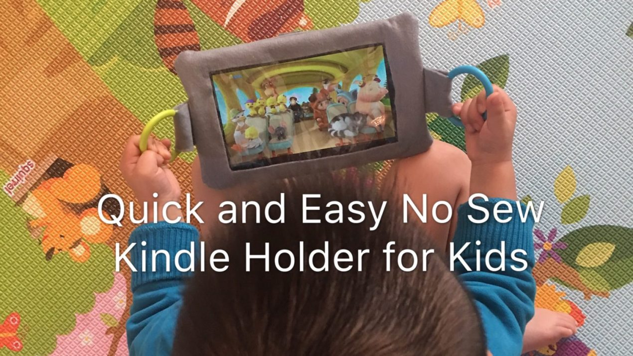 Quick and Easy No Sew Kindle Holder for Kids